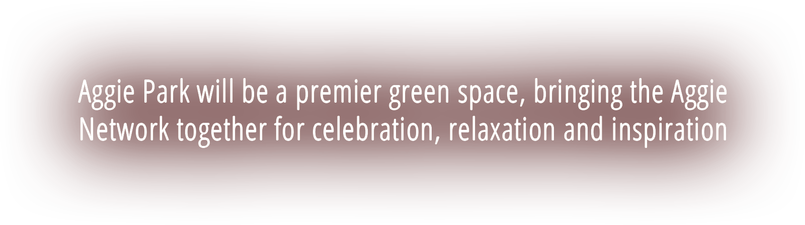 Aggie Park will be a premier green space, bringing the Aggie Network together for celebration, relaxation and inspiration